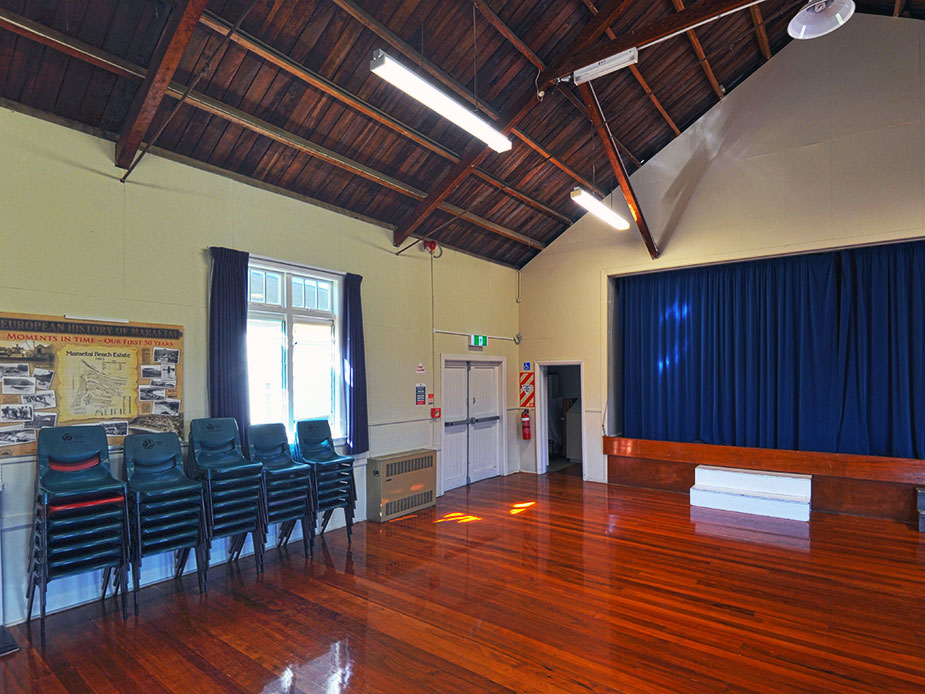 Maraetai Community Hall Main Hall Interior