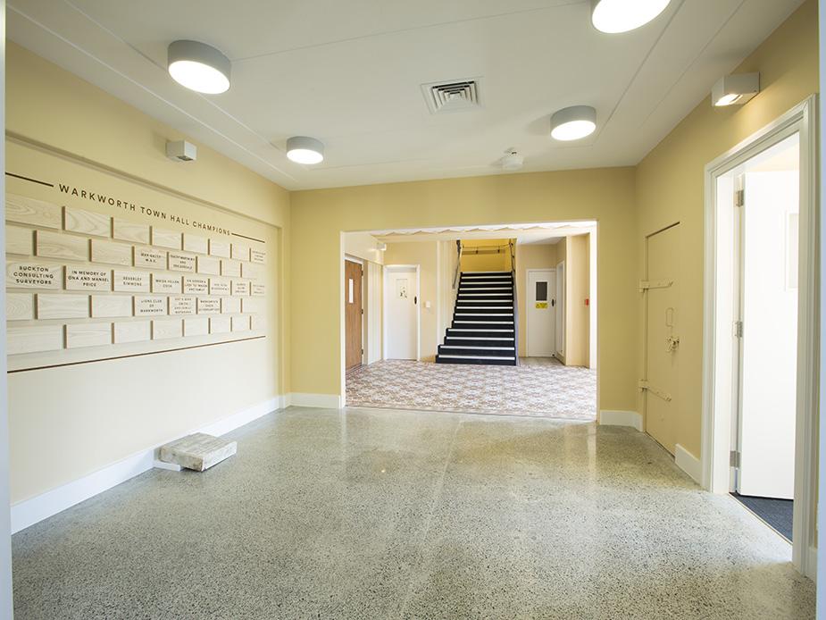 Warkworth Town Hall annex foyer