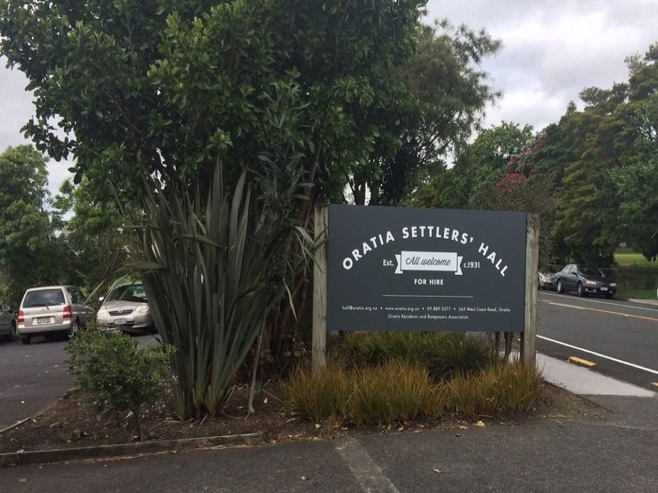 Oratia Settlers' Hall - Entrance