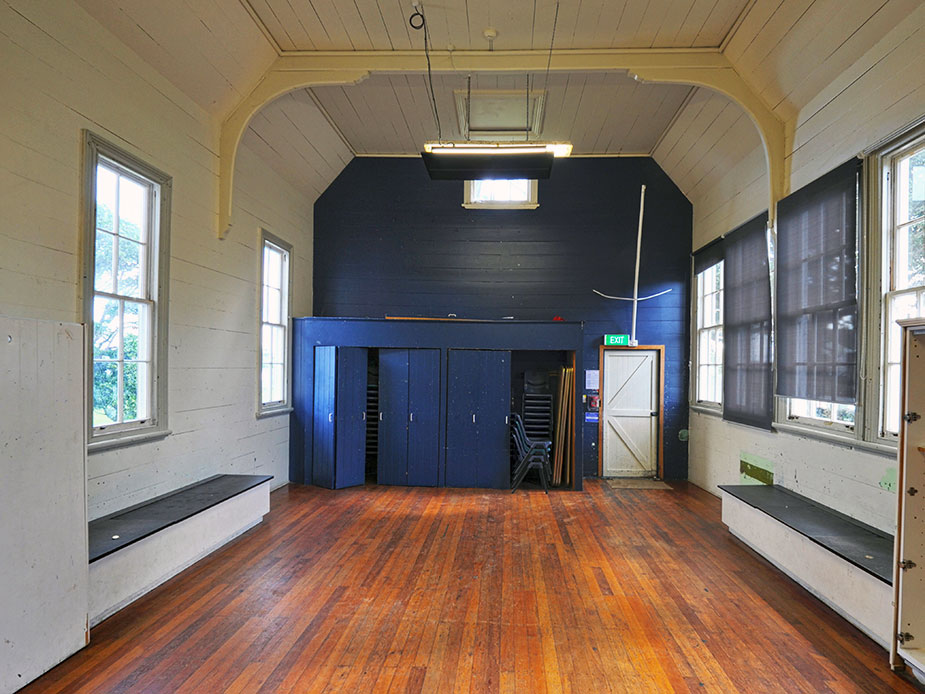 Mangere Old School Hall Main Hall Interior