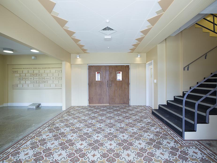 Warkworth Town Hall main foyer