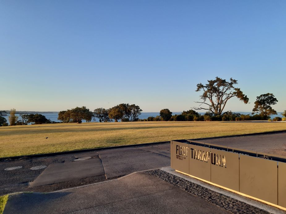 Fort Takapuna - Car park entry view