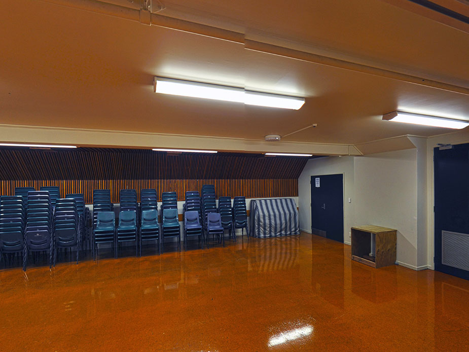 Ellerslie War Memorial Hall Main hall with stage