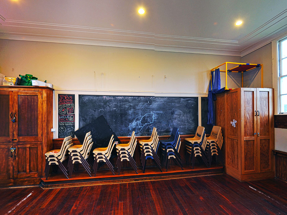 Old Blackpool School Hall Interior