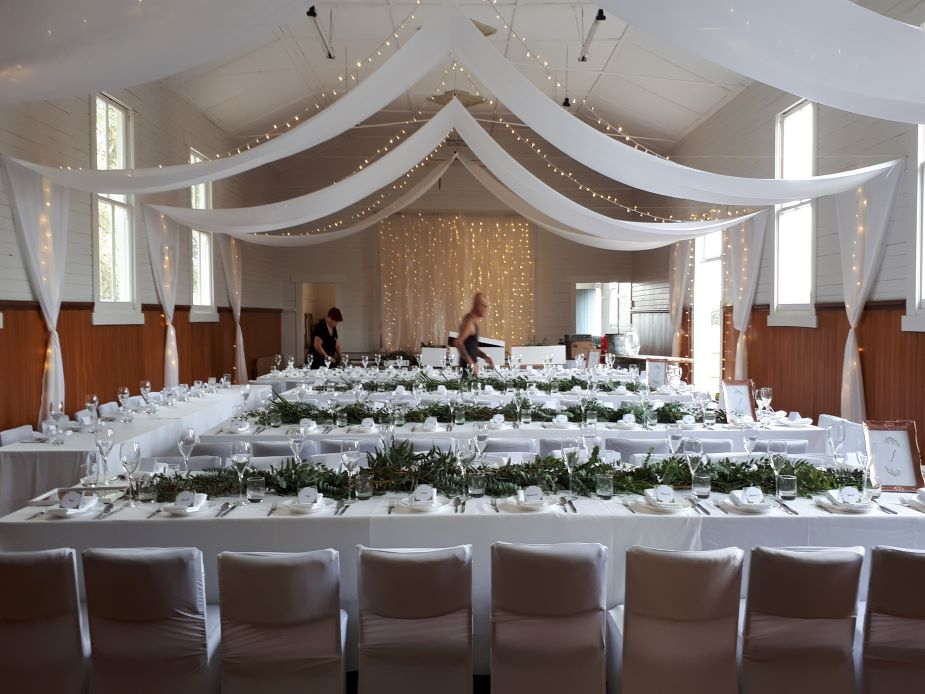 Mauku Victory Hall - wedding set up