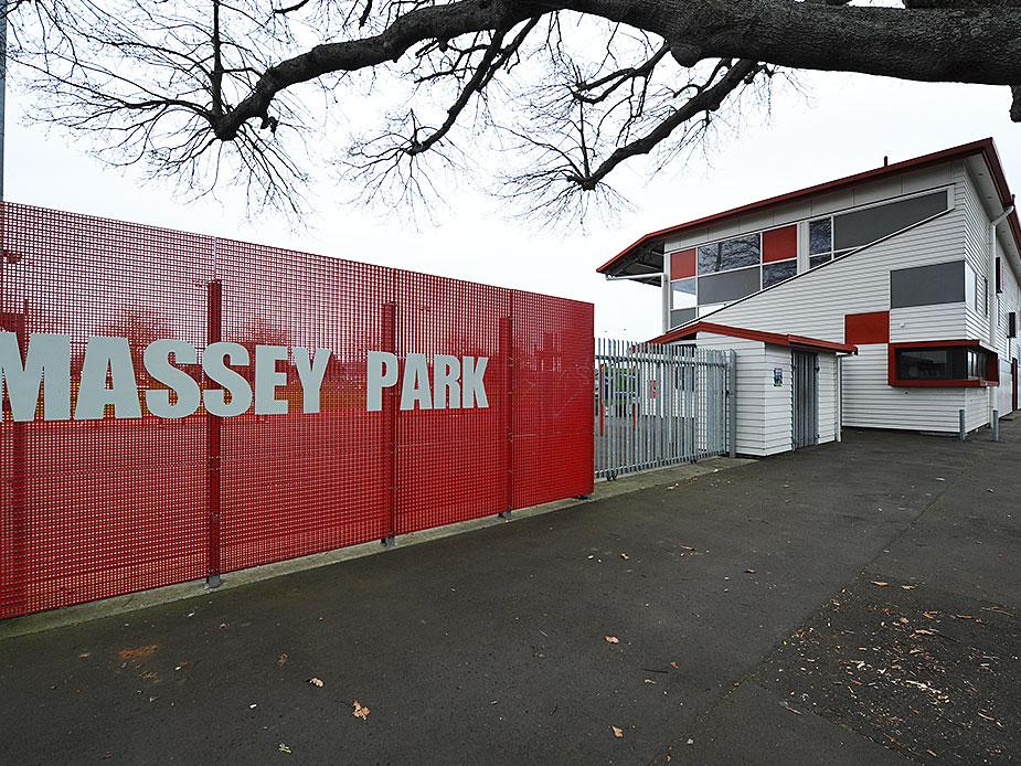 Massey Park Grandstand Exterior