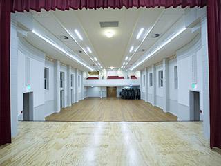 Warkworth Town Hall main hall