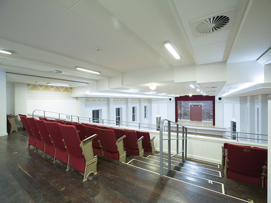 Warkworth Town Hall main hall seating