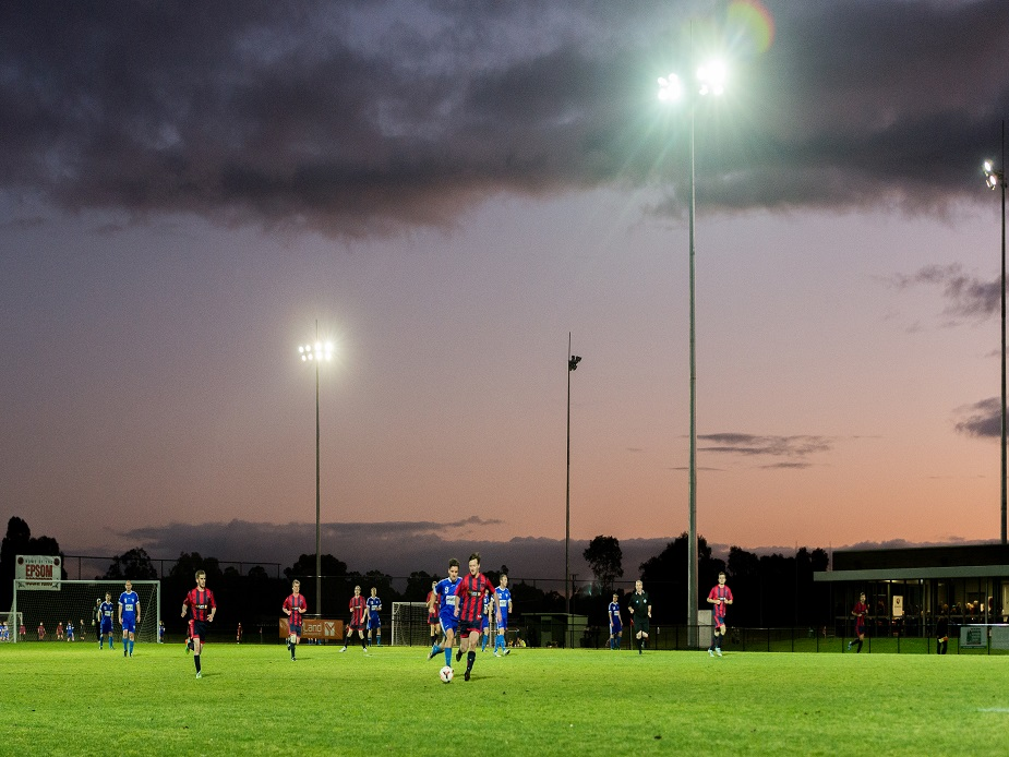 Epsom Huntly Recreation Reserve at Night