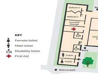 Epsom Huntly Major Pavilion external toilets