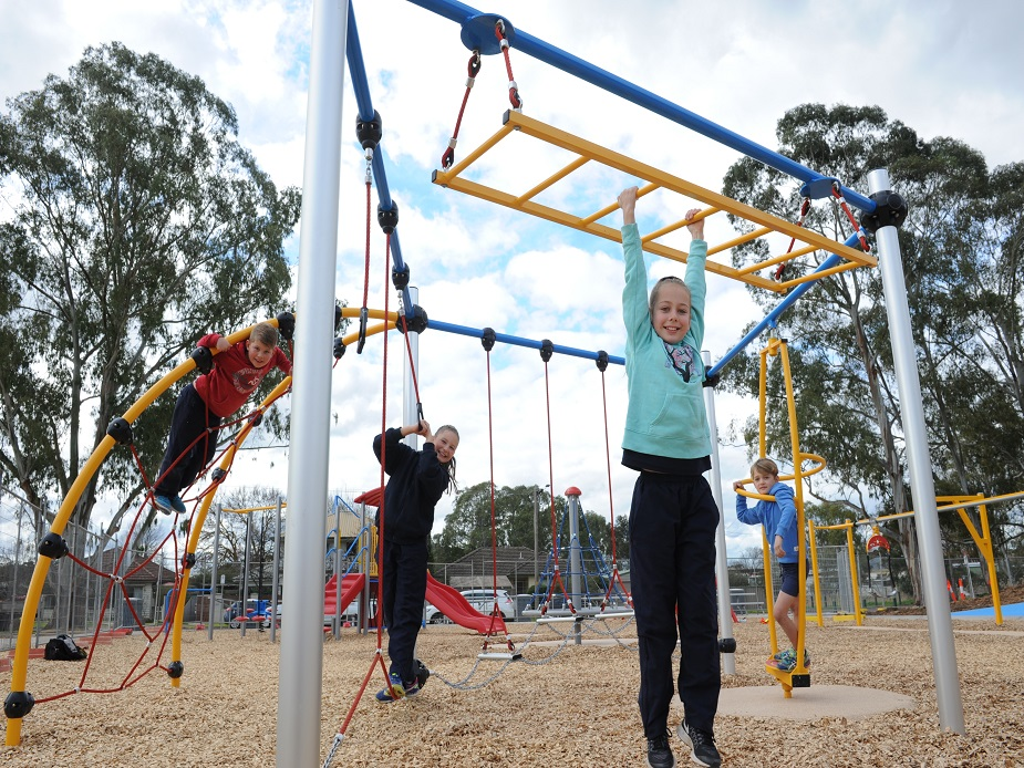 Kids playing in Cooinda Park