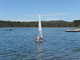 Boating on Crusoe Reservoir