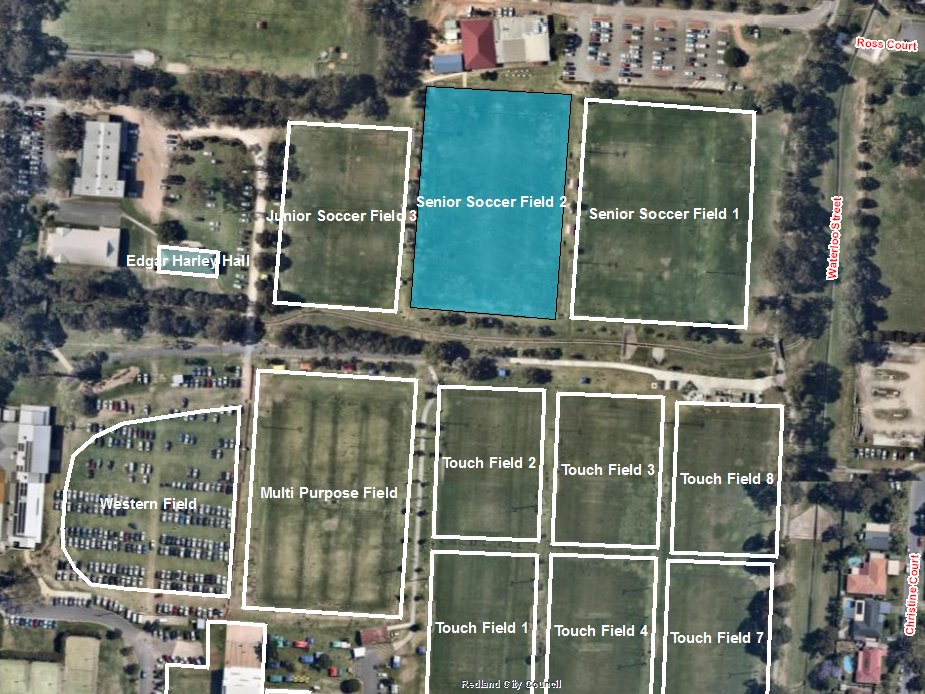 Soccer Field 2 (Senior) - Bookable Area - Map