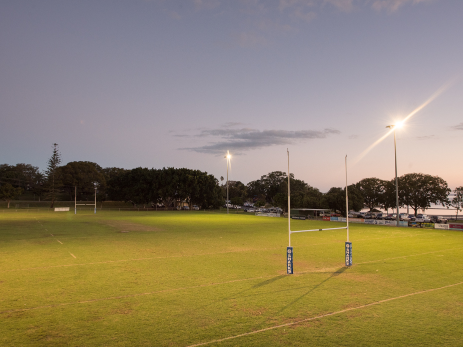 Dunwich Ron Stark Oval - Senior Rugby Field - Lighting