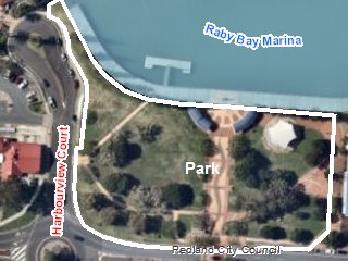 Raby Bay Harbour Park - Bookable Area Map