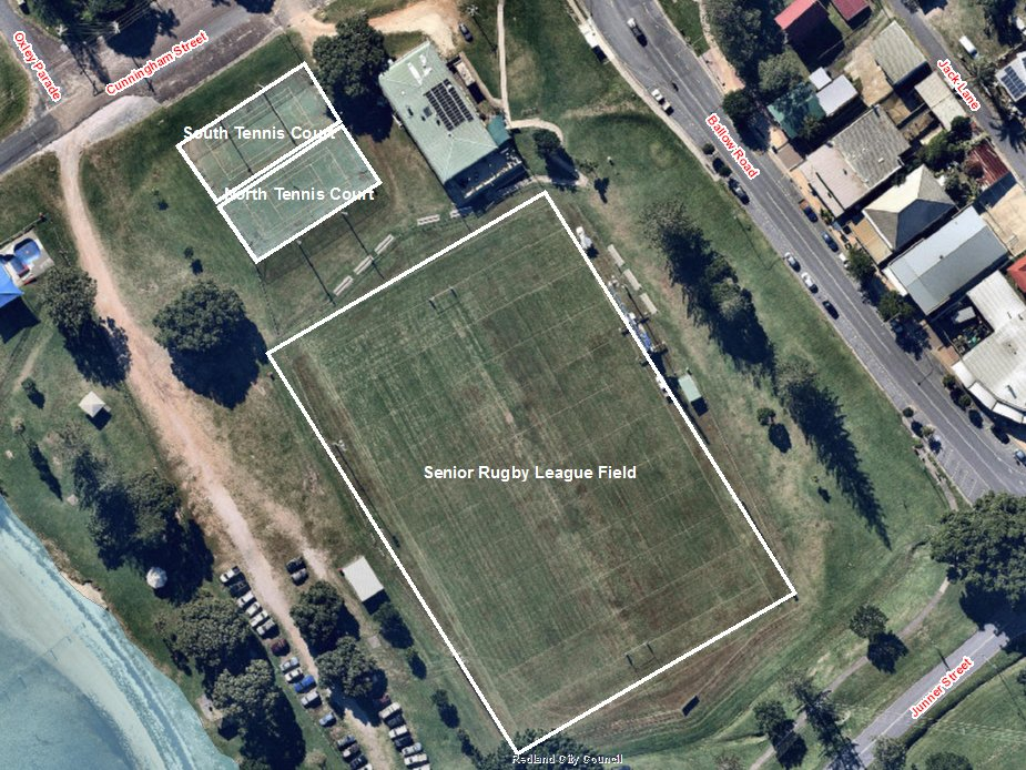 Ron Stark Oval - All bookable areas