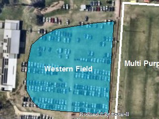 Western Field - Bookable Area - Map