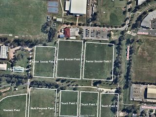 Soccer Fields (All) - Bookable Area - Map