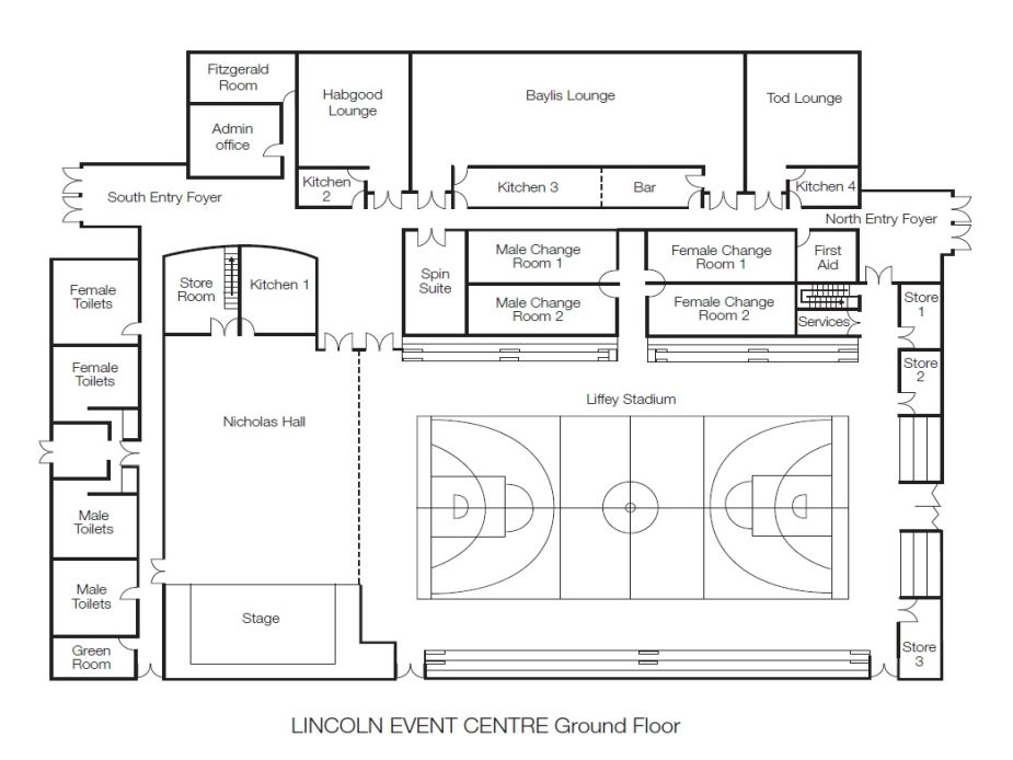 Lincoln Event Centre Floor Plan