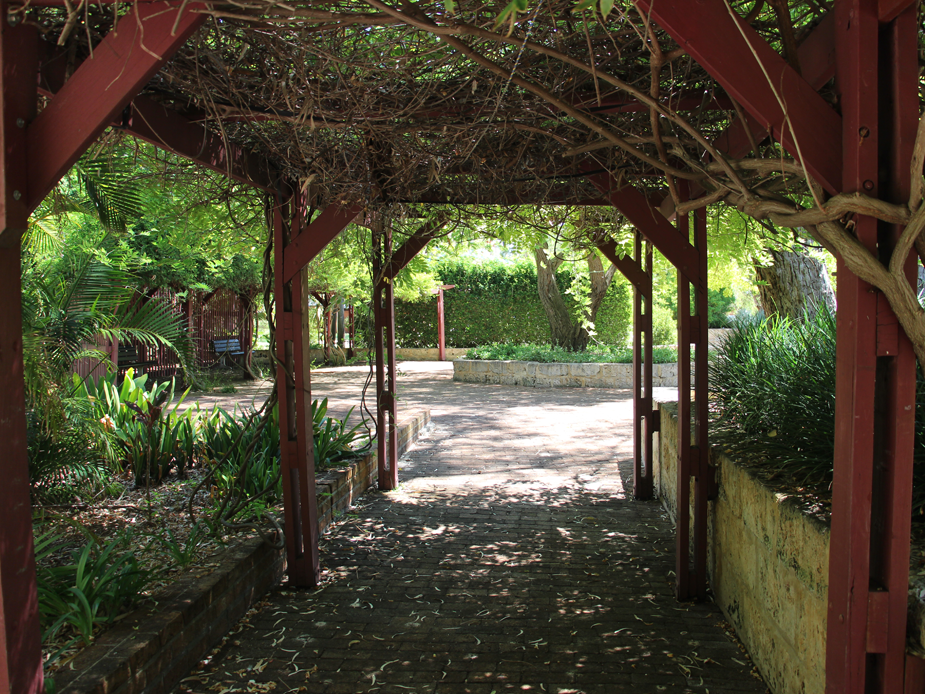 Zone 5 Scented Gardens covered walkway