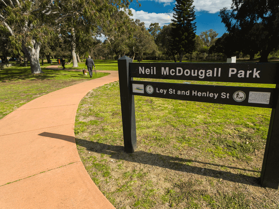 Neil McDougall Park entrance