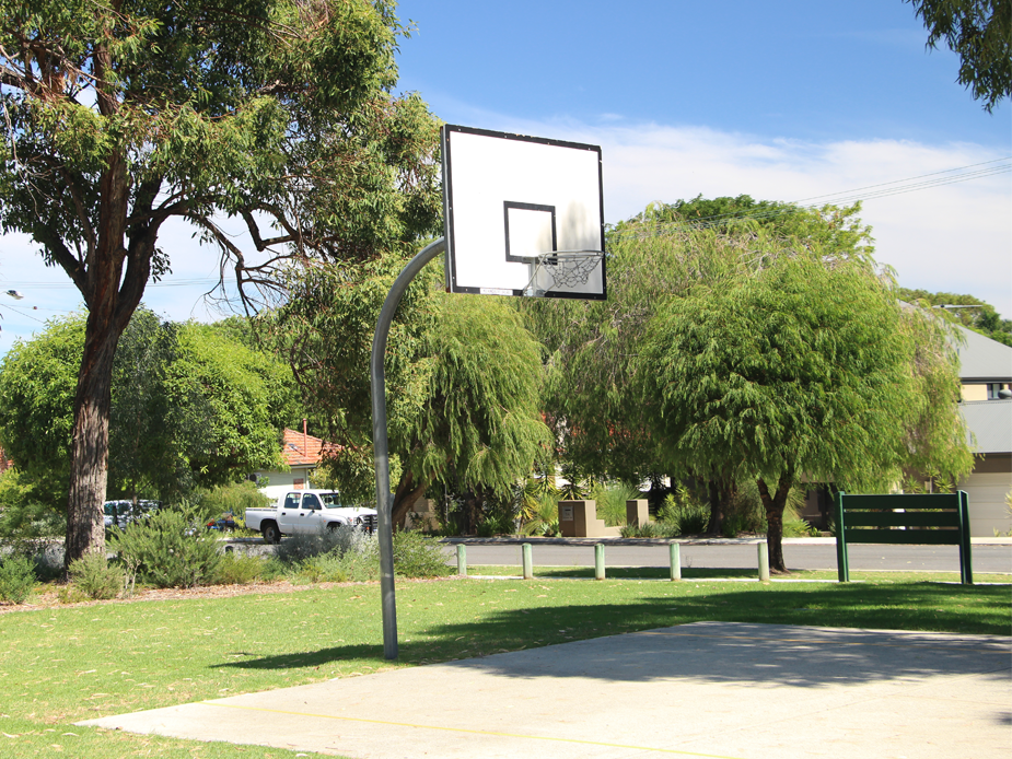 Bill McGrath Reserve basketball ring