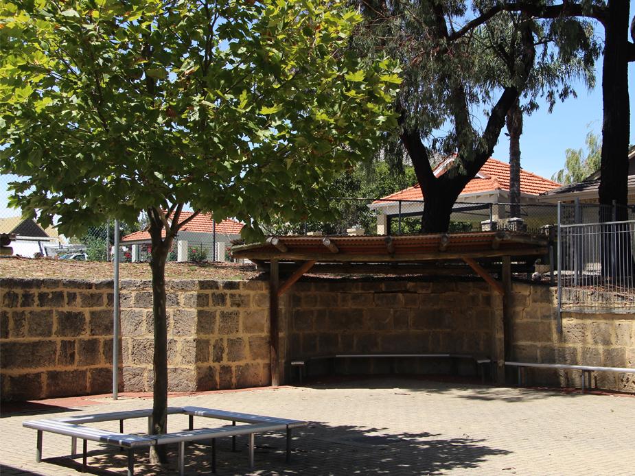 Enclosed outdoor area