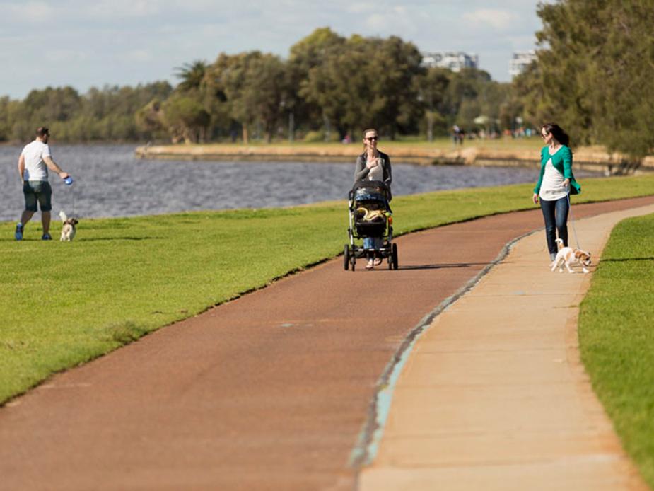 Sir James Mitchell Park pathway