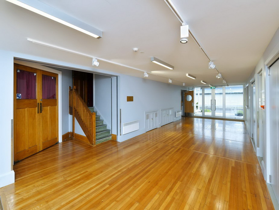 Link Space Foyer - view towards A&P Room, Kitchen & back entrance