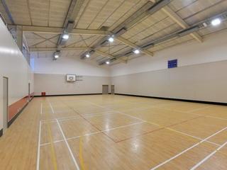 Sport Hall - towards northern exit doors