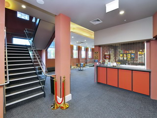 Main foyer - stairs to Function Room & Gallery Seating, Box Office foyer