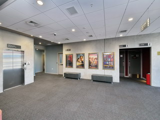 Main foyer - Lift, Toilets, Cinema 1 & 2 door