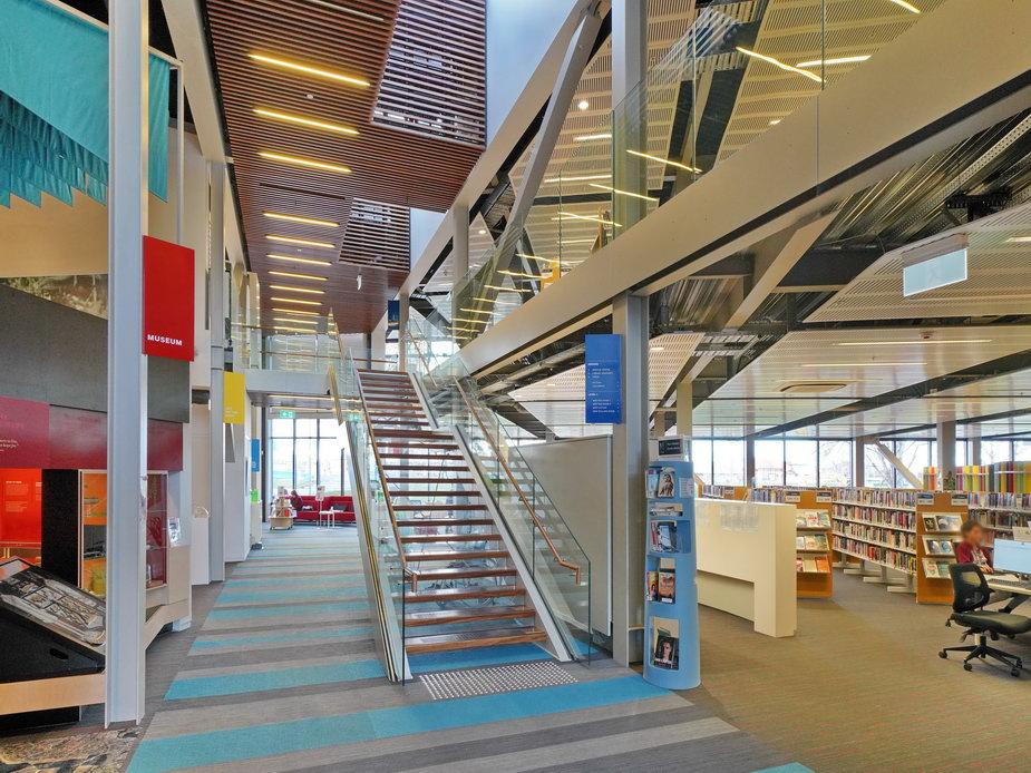 Kaiapoi Library - Main Stairs