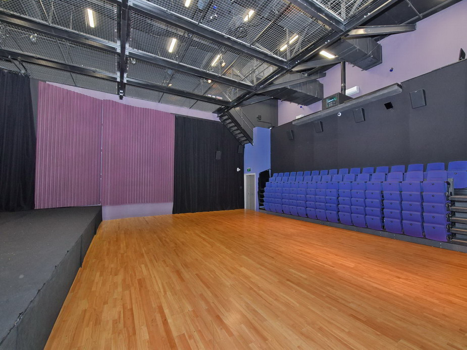 Small Theatre - Seating retracted, open floor