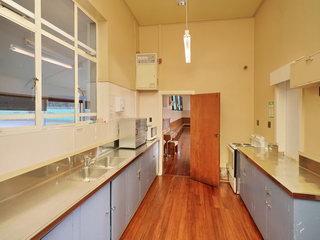 Kitchen - Looking at door into Main Hall