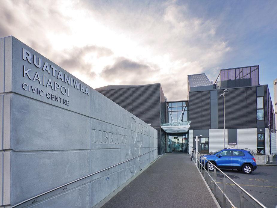 Ruataniwha Kaiapoi Civic Centre - Carpark entry